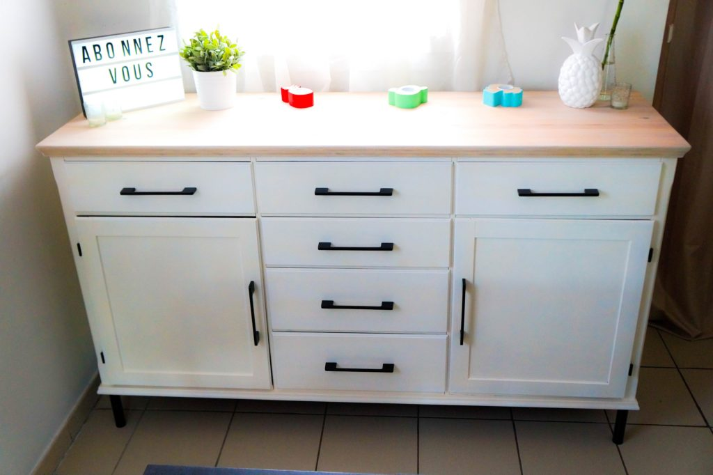 relooking d 39 un buffet en bois de chez ikea tuto. Black Bedroom Furniture Sets. Home Design Ideas