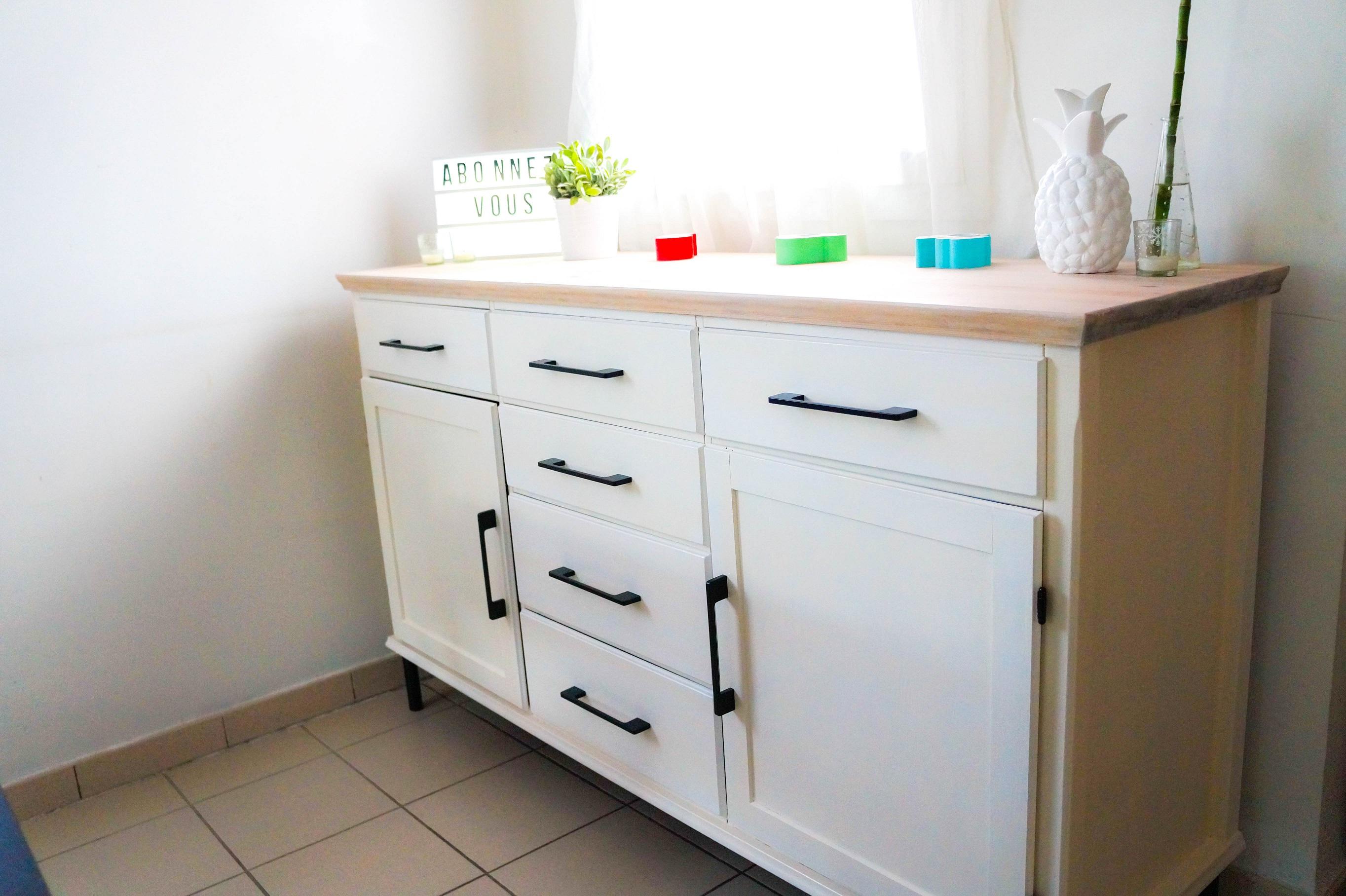 Relooker un buffet juai meuble pin buffet et enfilade - Relooker des meubles ikea ...